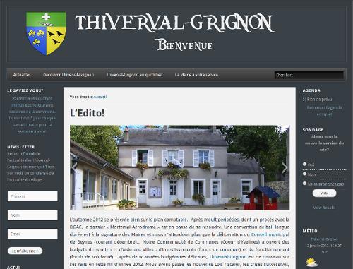 Thivinfo.com a créé le site de la mairie de Thiverval-Grignon