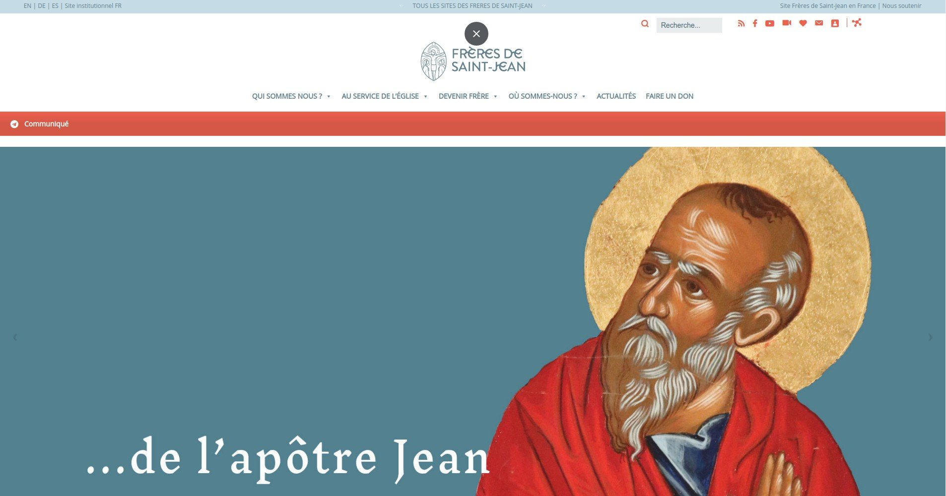 Frères de St Jean - Site Internet